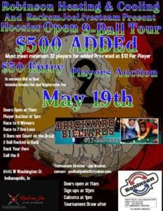 Hoosier Open 9-Ball Tour Stop 8