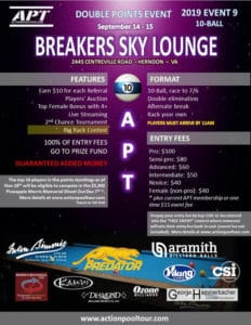 APT Breakers Sky Lounge 10-Ball