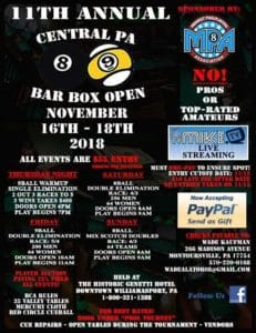 11th Annual Central PA Bar Box Open