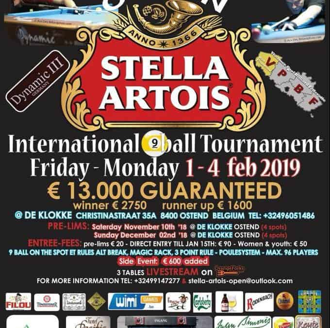 4th Stella Artois Open 2019