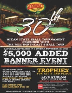 30th Ocean State 9-Ball Tournament