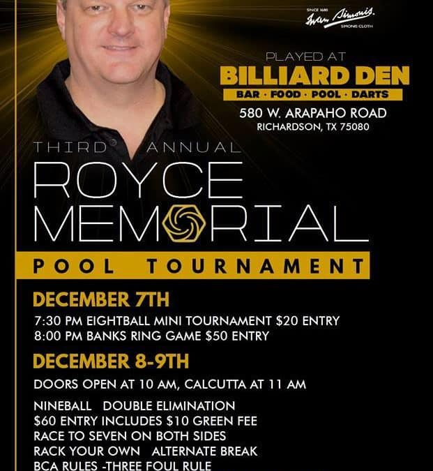 Third Annual Royce Memorial