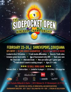 The Sidepocket Open 9-Ball Championship
