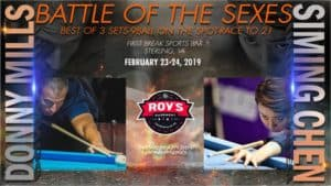 Battle of the sexes: Donny Mills vs. Siming Chen