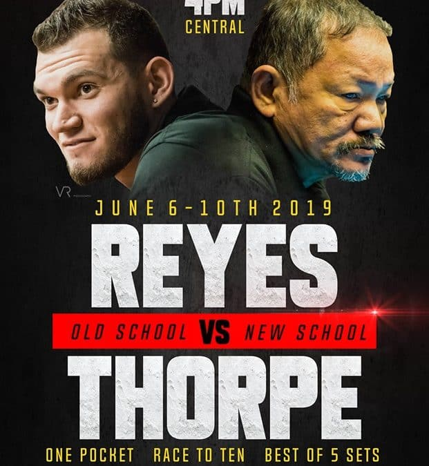 Reyes vs. Thorpe, One Pocket, Race to 10, Best of 5