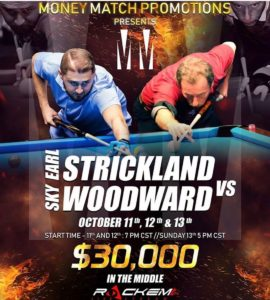 Earl Strickland vs. Sky Woodward, Race to 100