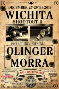 Wichita Shootout: Olinger vs. Morra, 8-Ball, Race to 100