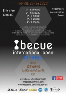 Becue International 10-Ball Open 2020