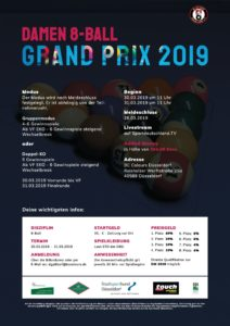 Damen 8-Ball Grand Prix 2019