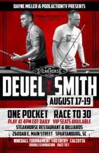 Deuel vs. Smith One Pocket Race to 30
