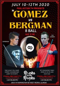 Gomez vs. Bergman, 8-Ball, Race to 100