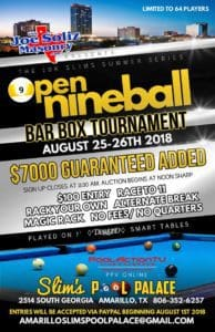 Slims Open 9-Ball Bar Box Tournament